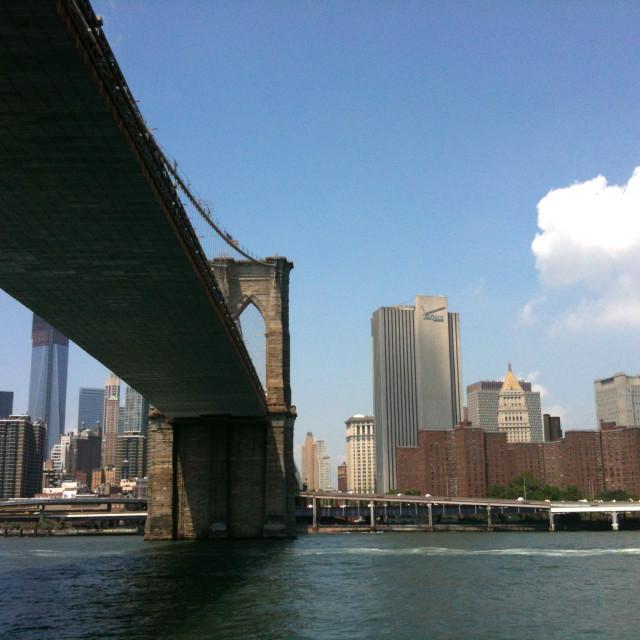 """The Brooklyn Bridge, 2012"" stock image"