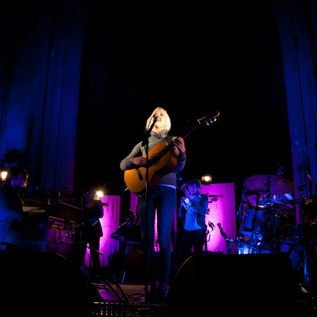 """Laura Marling Live"" stock image"