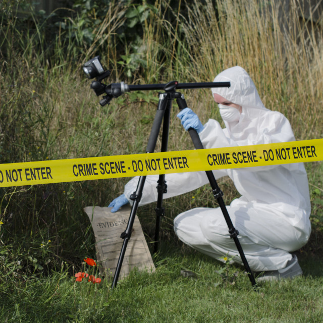 """Crime Scene Examination"" stock image"