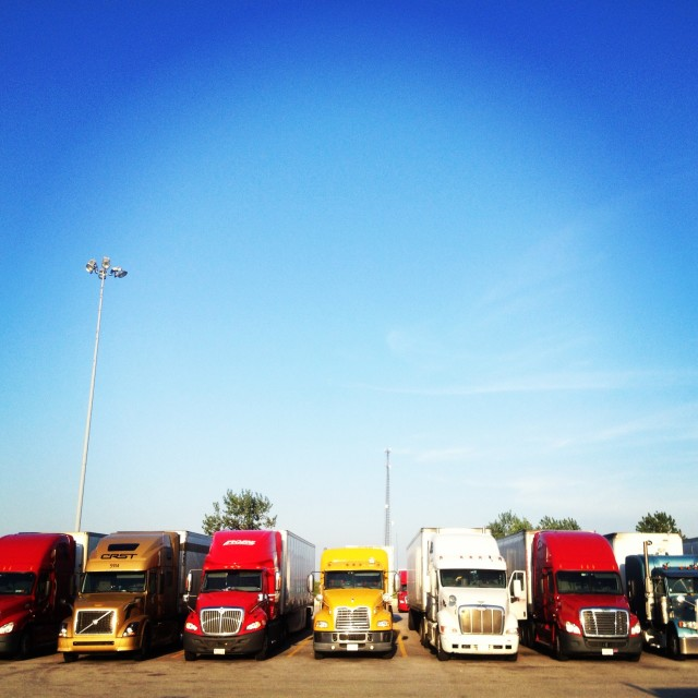 """Trucks"" stock image"