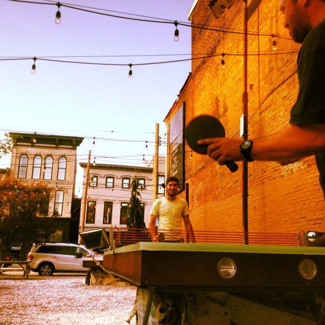 """Urban table tennis"" stock image"