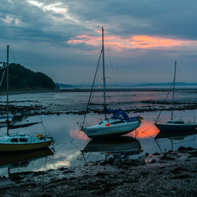 """Low Tide at Sunset"" stock image"
