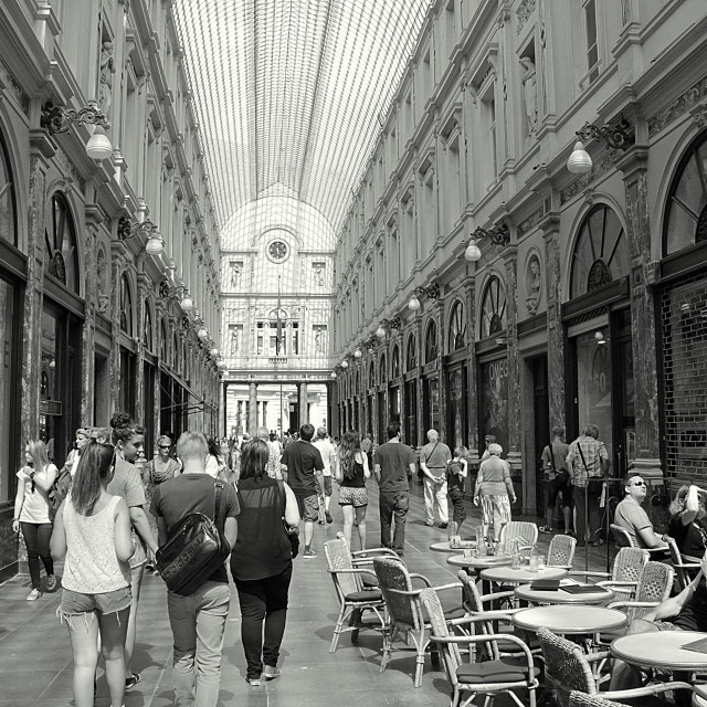 """Galleries Royales Saint-Hubert, Brussels."" stock image"