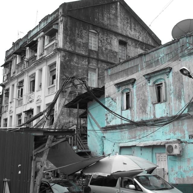 """Blue Yangon"" stock image"