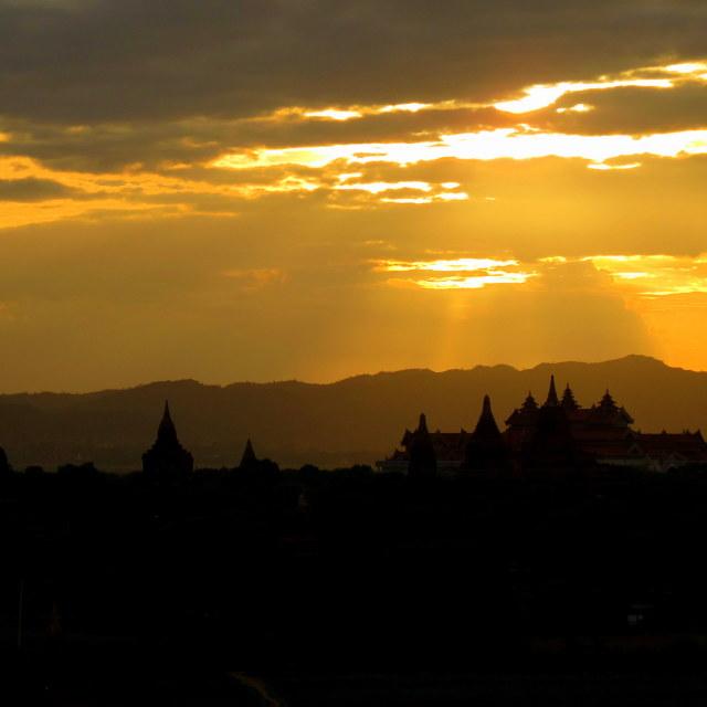 """""""Bagan Sunset"""" stock image"""