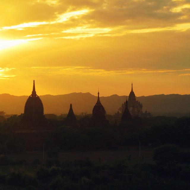 """""""Bagan Sunset 2"""" stock image"""