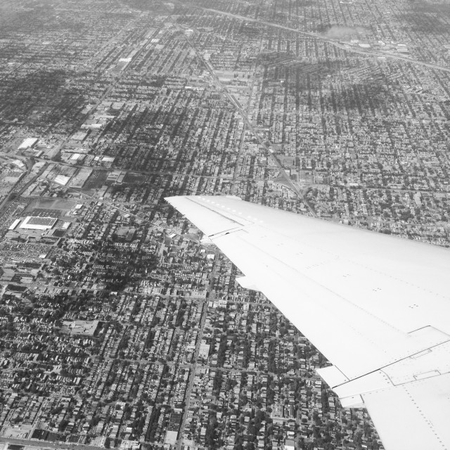 """Chicago from a plane"" stock image"