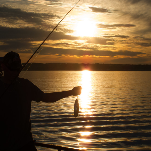 """Last Catch of the Day"" stock image"