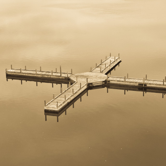 """Empty Dock"" stock image"