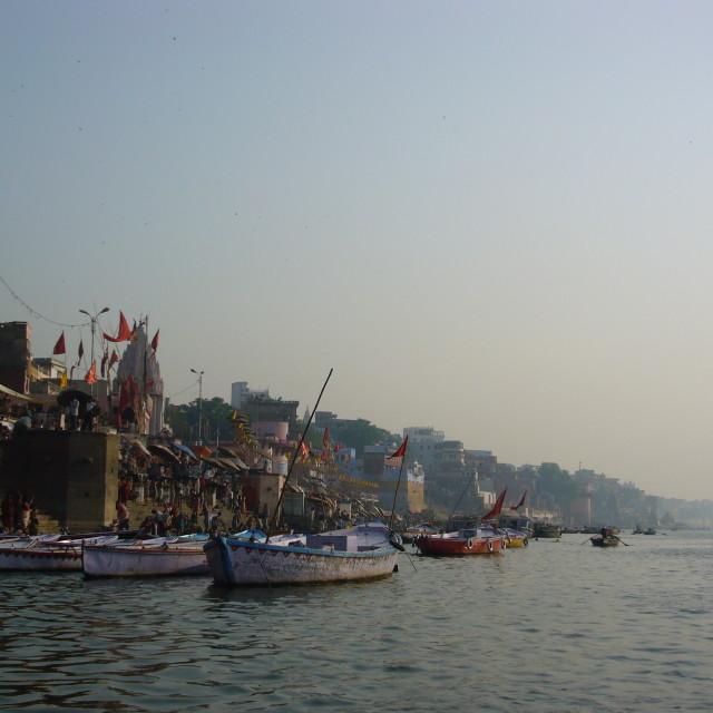 """""""Varanasi at dawn"""" stock image"""
