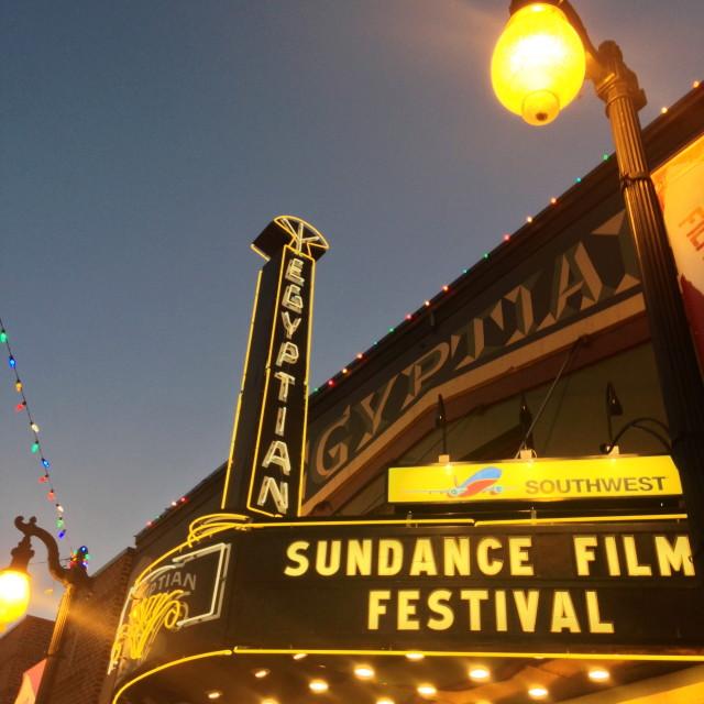"""Egyptian Theatre, Sundance Festival"" stock image"