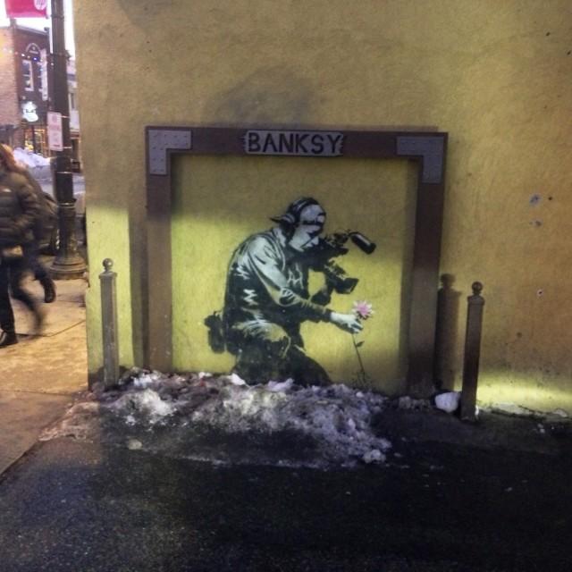 """Banksy in Park City, Sundance Festival"" stock image"