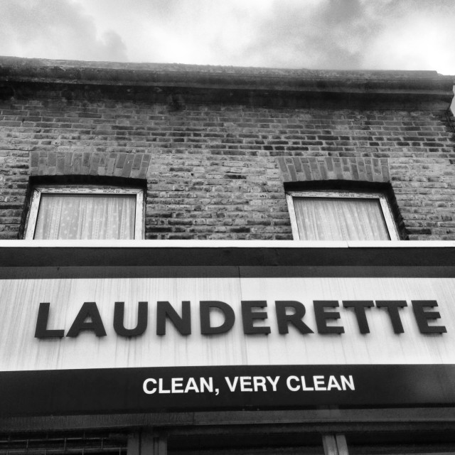 """Launderette, very clean"" stock image"
