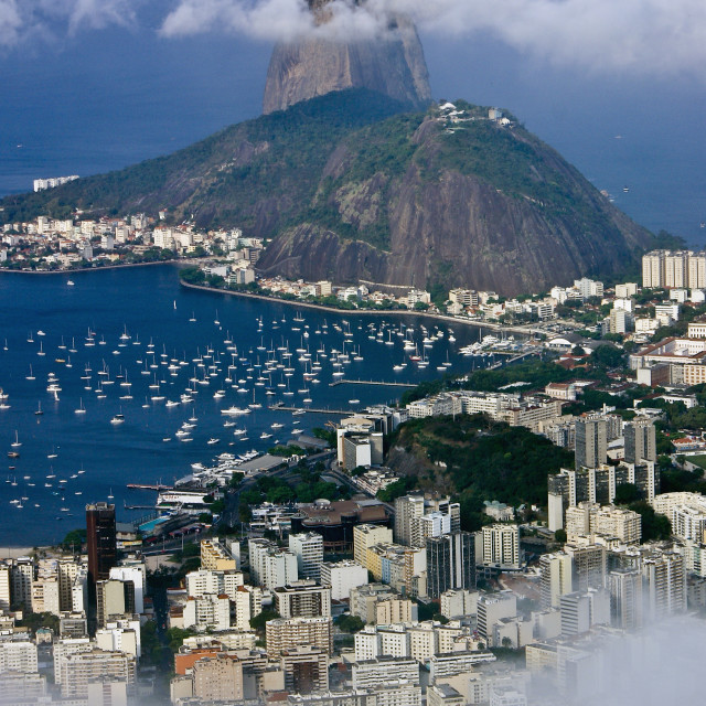 """Cloud-topped Sugarloaf"" stock image"