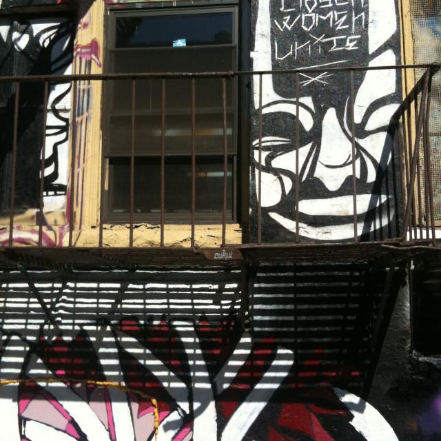 """""""Graffiti at 5 Pointz, Long Island City, NY"""" stock image"""