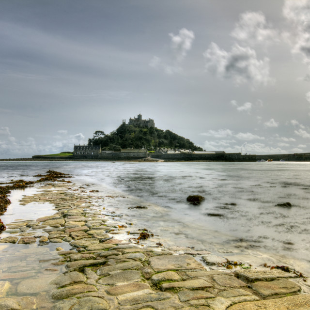 """St Michaels Mount Cornwall"" stock image"