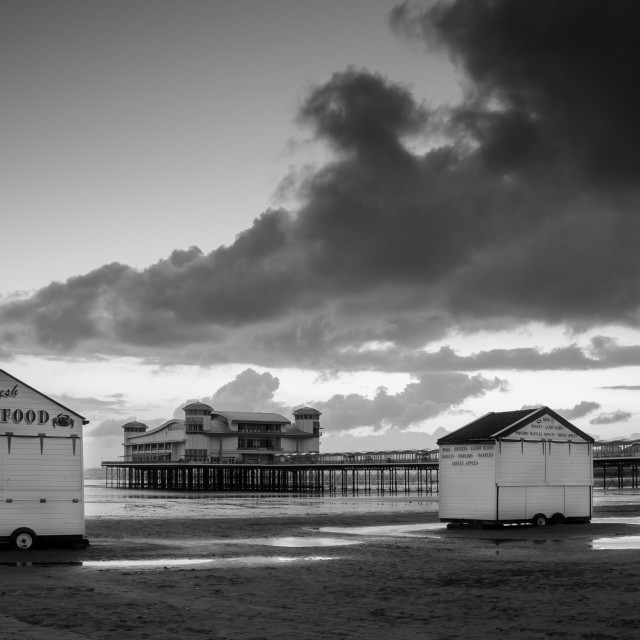 """Weston Super Mare Huts"" stock image"