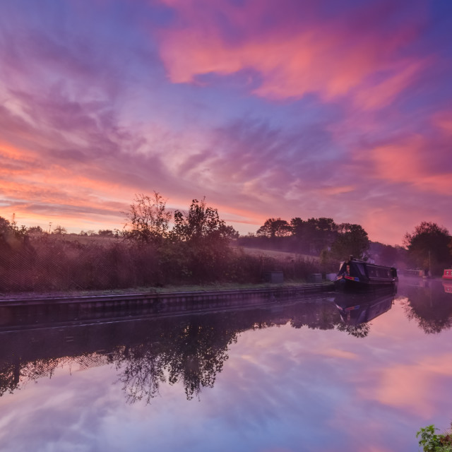 """Canal sunrise"" stock image"
