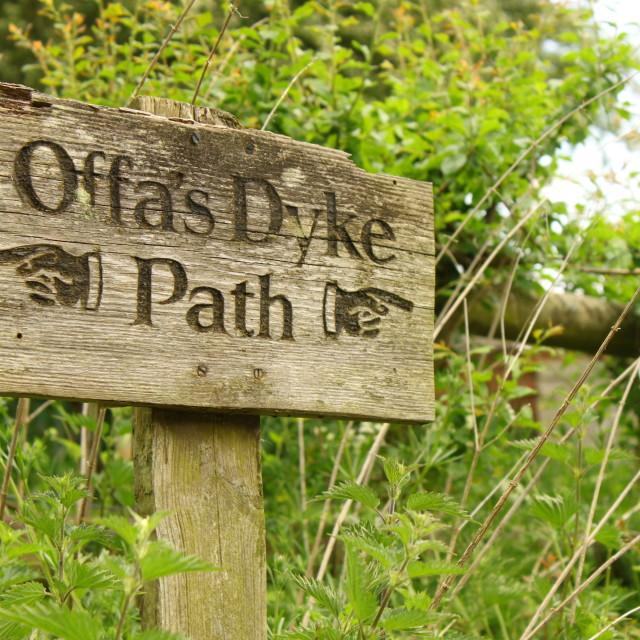 """Offa's Dyke sign"" stock image"