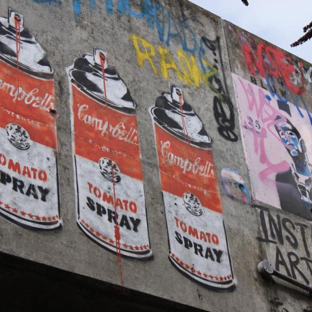 """Leake St graffiti"" stock image"
