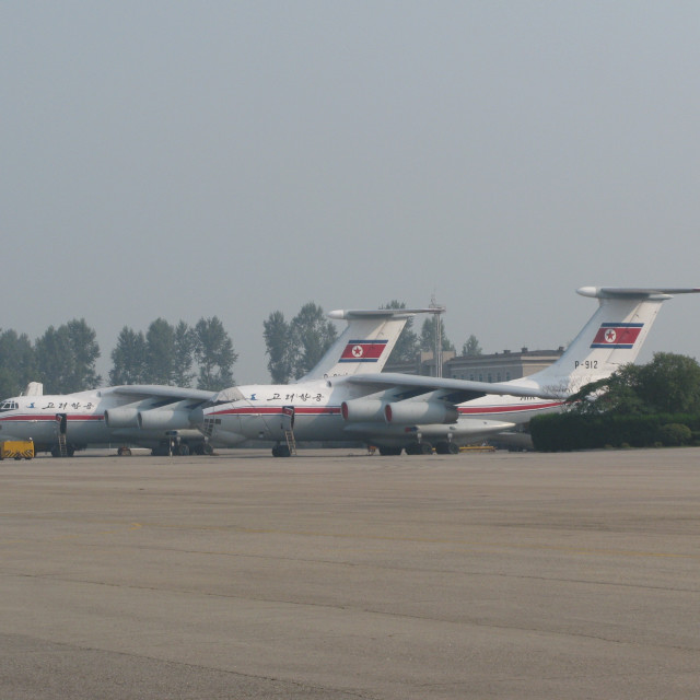 """""""Airliners in Pyongyang"""" stock image"""