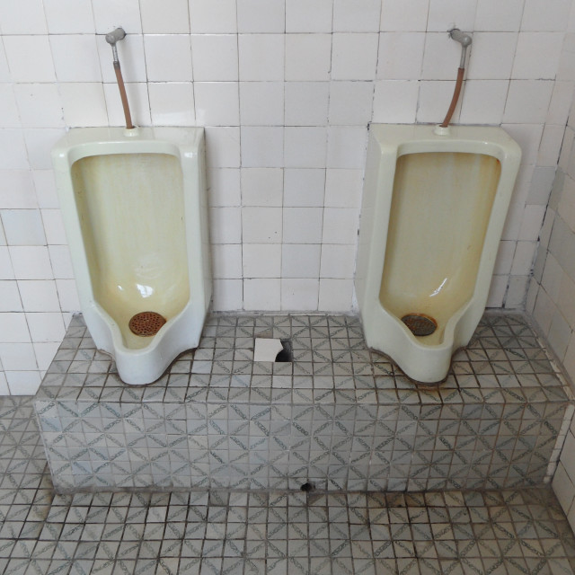 """Toilet in North Korea"" stock image"