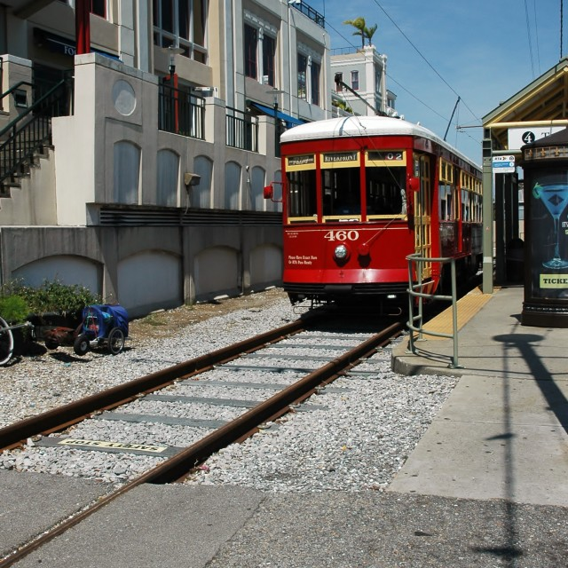 """Streetcar in New Orleans"" stock image"