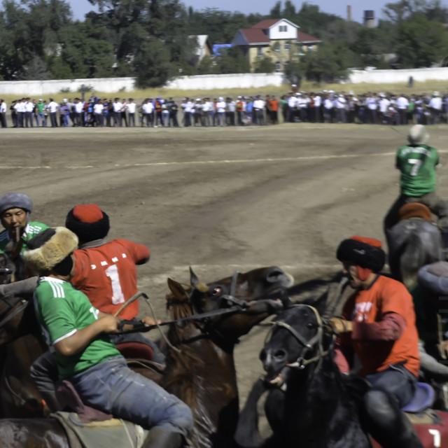 """""""Kyrgyzstan Horse Games"""" stock image"""