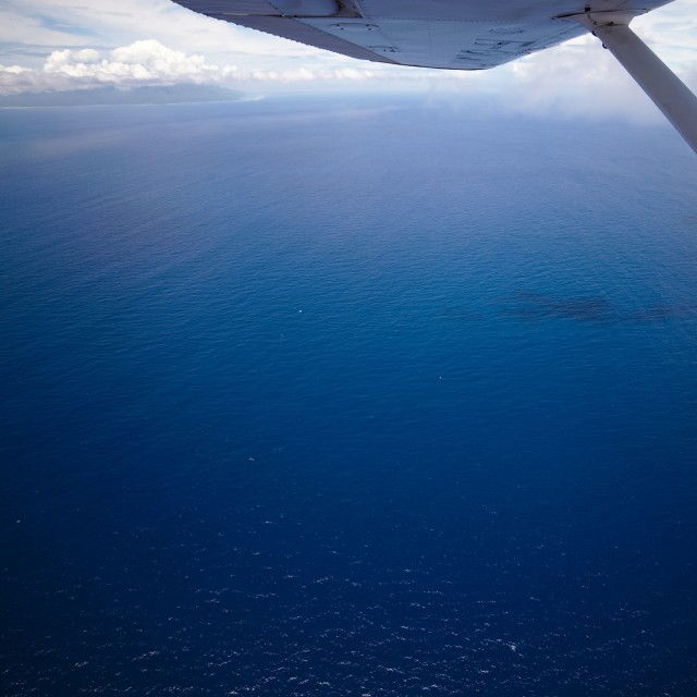 """pacific ocean from a plane"" stock image"