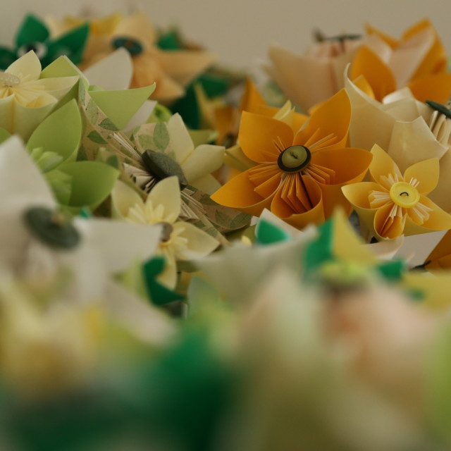 """""""A Carpet of paper flowers"""" stock image"""