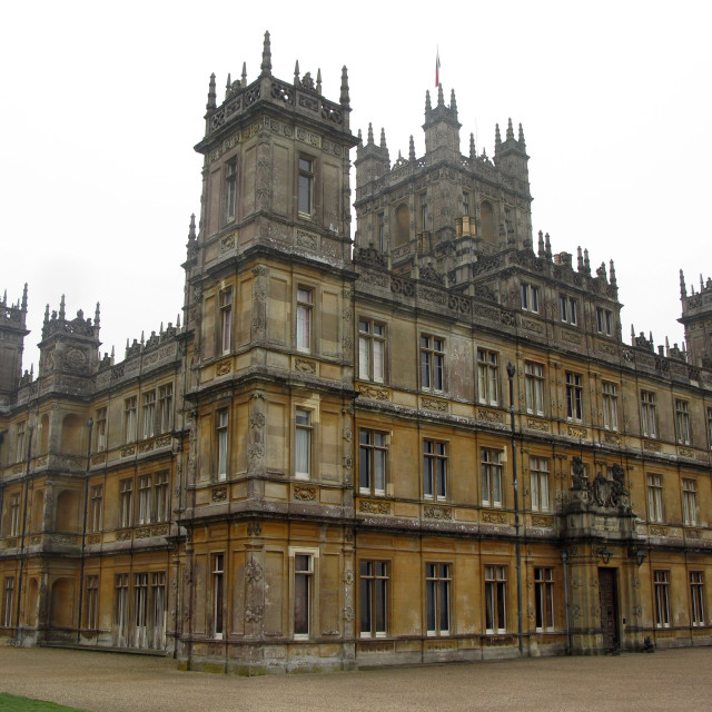 """Downton Abbey aka Highclere castle"" stock image"
