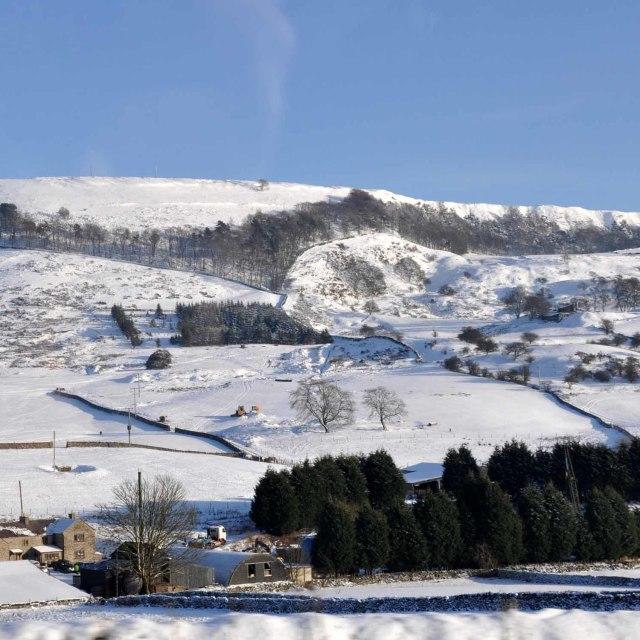"""""""Derbyshire Snow Landscape"""" stock image"""