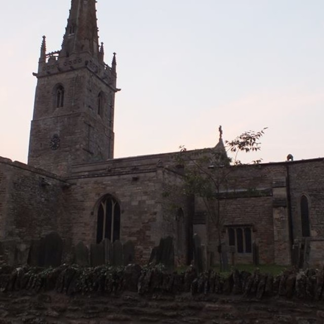 """Coleby Church"" stock image"