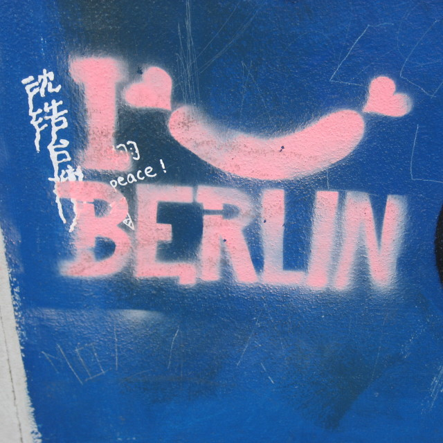 """Berlin Wall Graffiti #2"" stock image"
