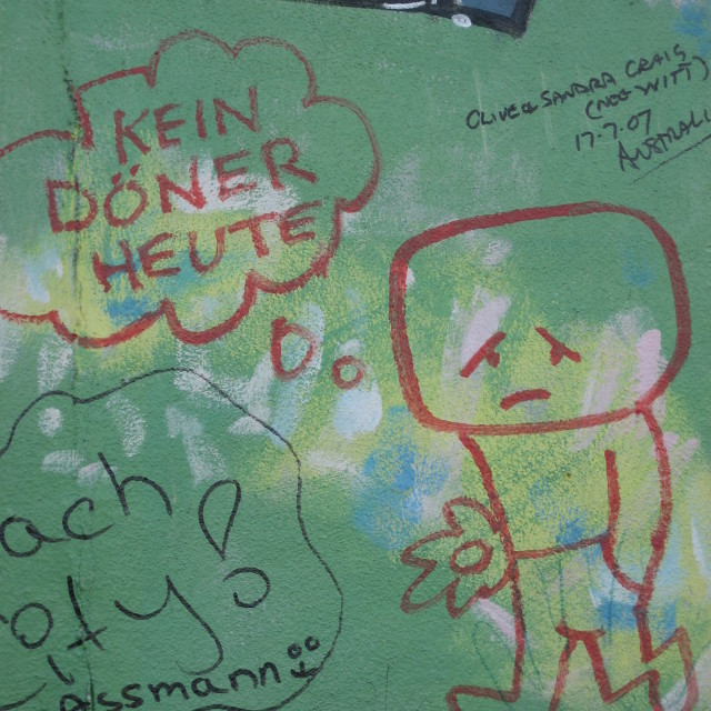 """Berlin Wall Grafitti #3"" stock image"
