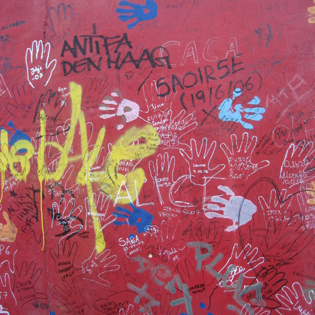 """Berlin Wall Graffiti #3"" stock image"