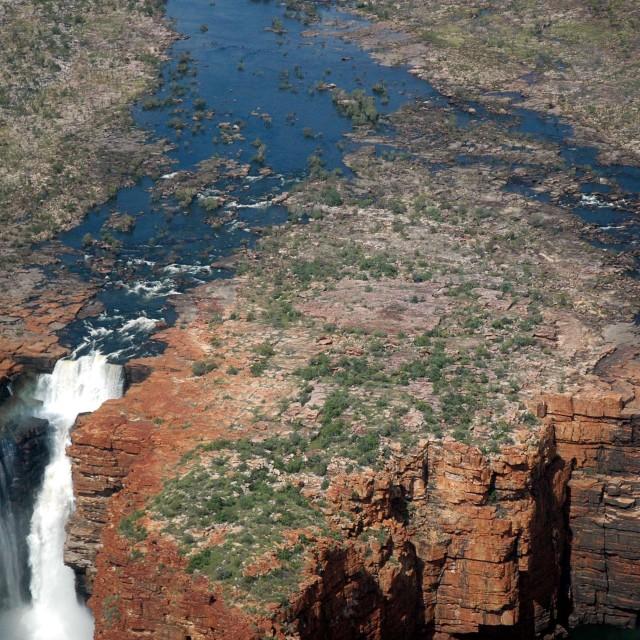 """Mitchell Falls & Big Mertens Falls"" stock image"