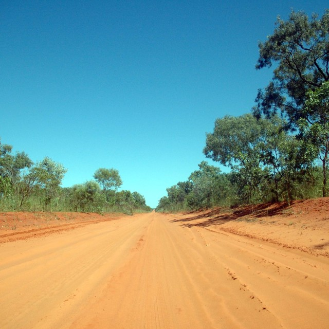 """""""Outback road"""" stock image"""