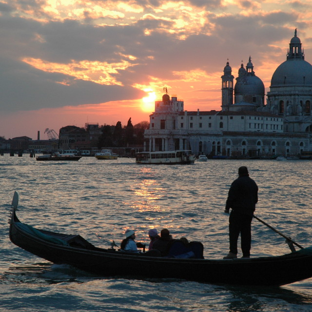 """Sunset in Venice"" stock image"