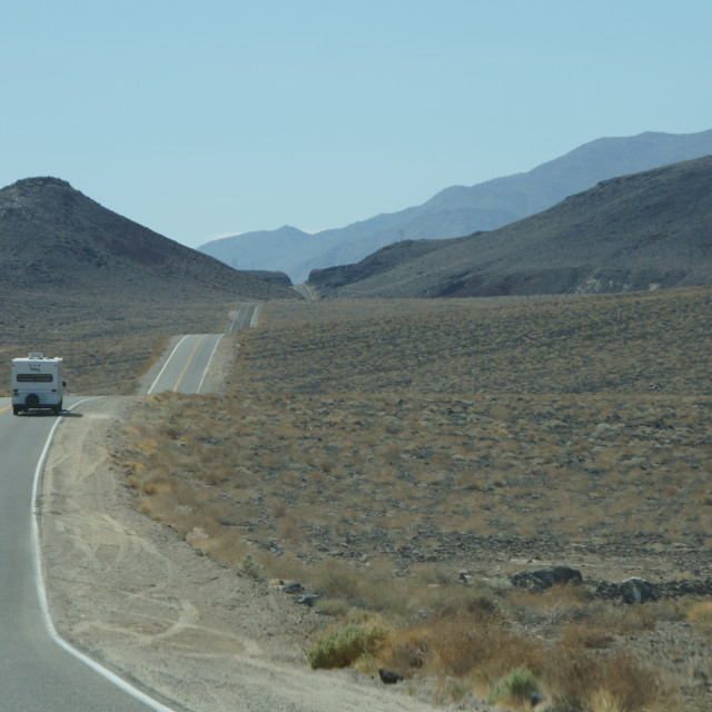 """""""wavy road to Death Valley"""" stock image"""
