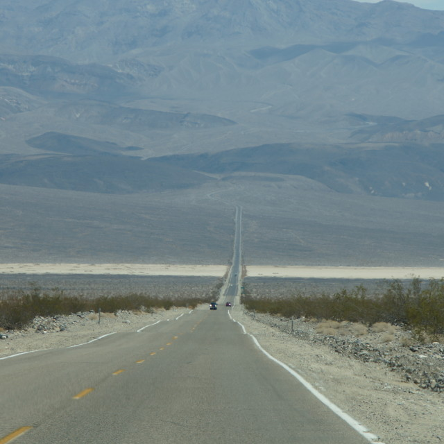 """road to Death ... Valley"" stock image"