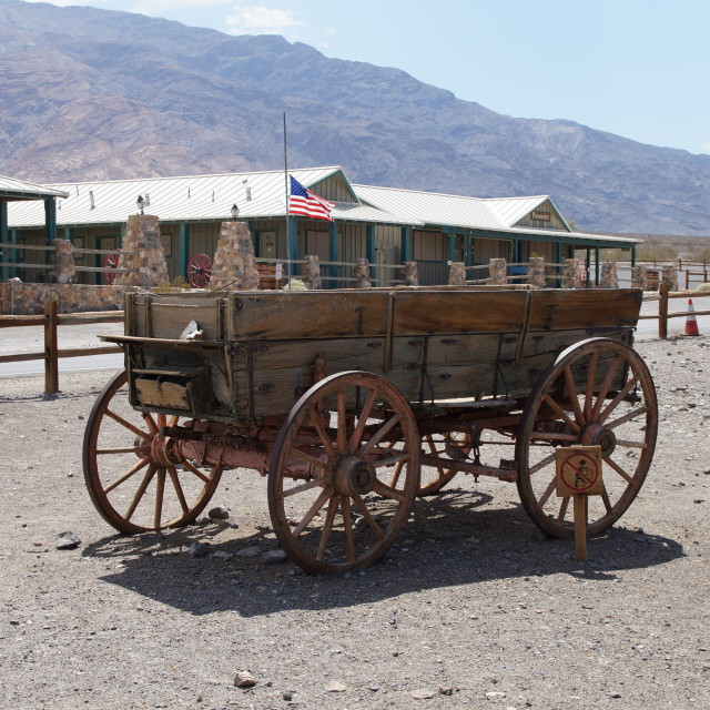 """Diligence in Stovepipe Wells Village, Death Valley"" stock image"