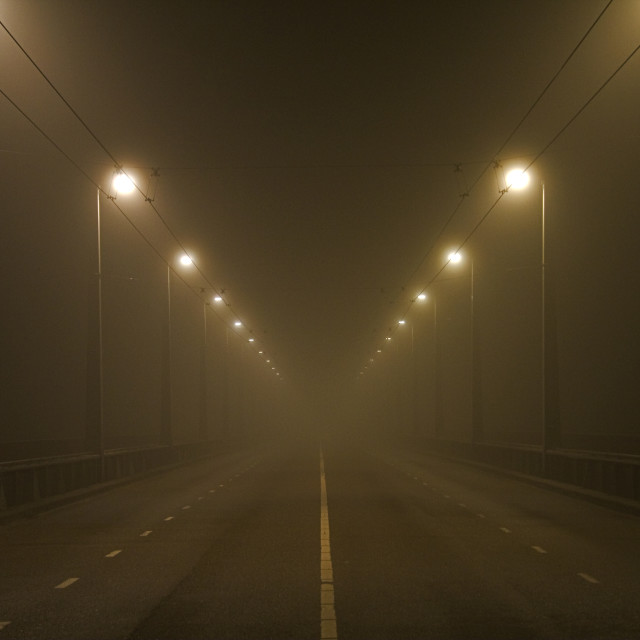 """Foggy Bridge"" stock image"