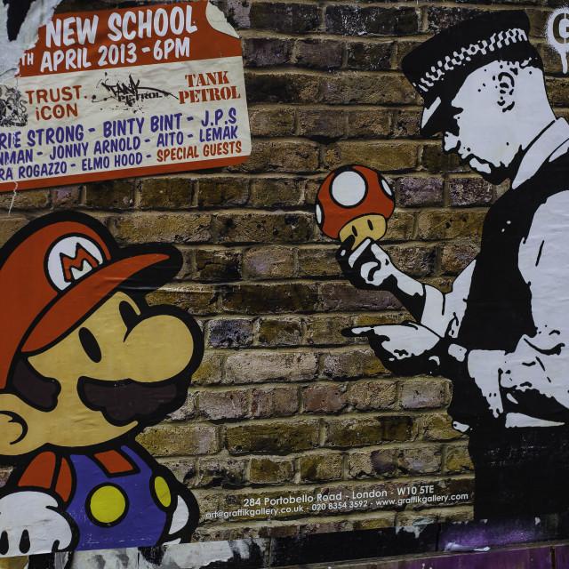 """Super Mario in trouble"" stock image"