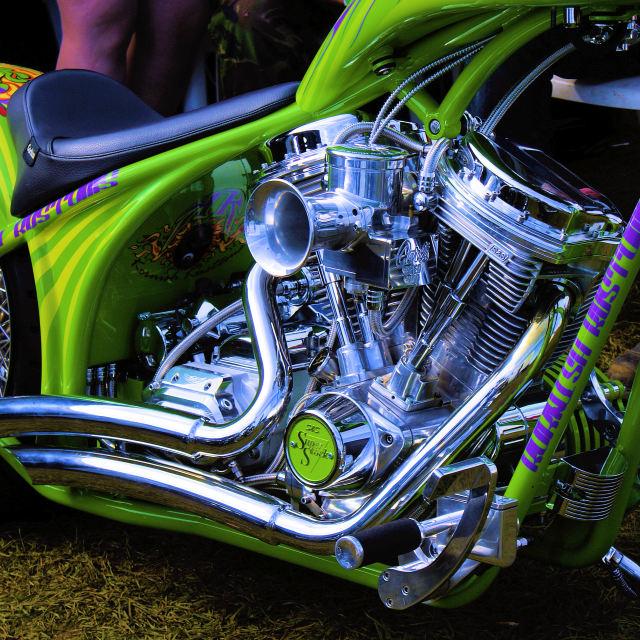"""Harley Chop"" stock image"