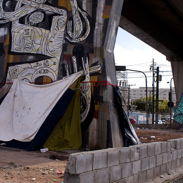 """""""Morador de rua - Homeless"""" stock image"""