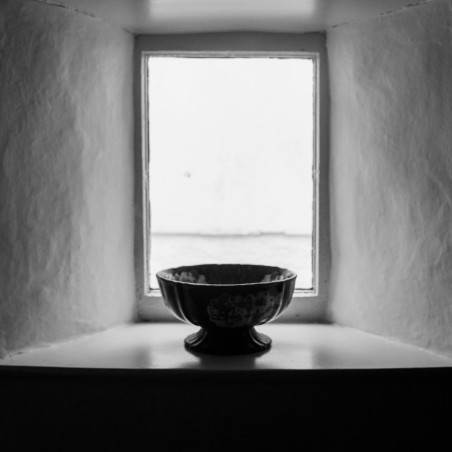 """Bowl in window"" stock image"