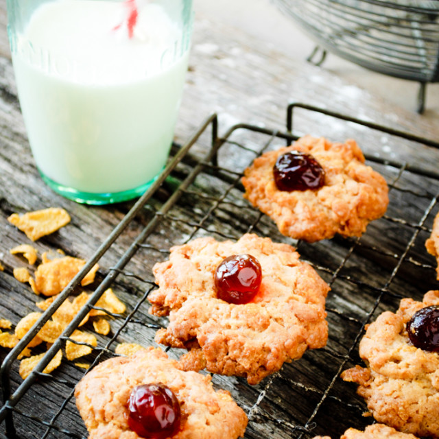 """Cornflake Cookies"" stock image"