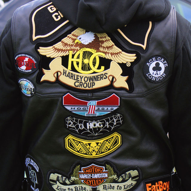 """Patches Biker Lifestyle"" stock image"