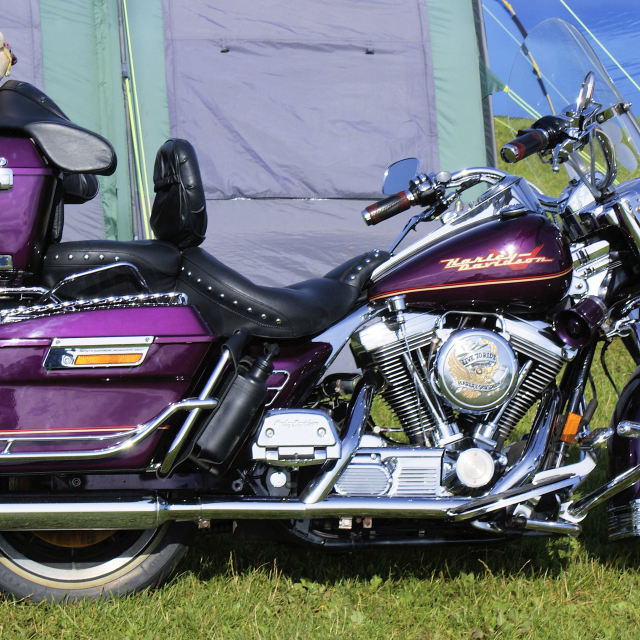 """Purple Motorcycle"" stock image"